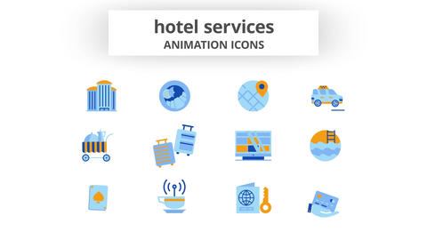 Hotel Services - Animation Icons After Effects Template