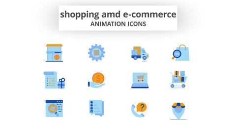 Shopping & E-Commerce - Animation Icons After Effects Template