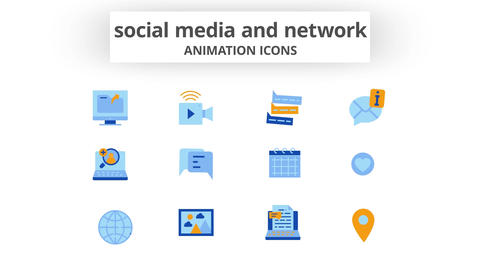 Social Media & Network - Animation Icons After Effects Template