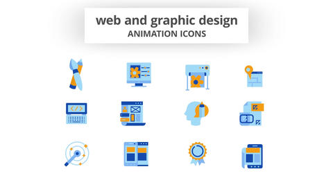 WEB & Graphic Design - Animation Icons After Effects Template