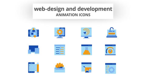 Web-Design & Development - Animation Icons After Effects Template