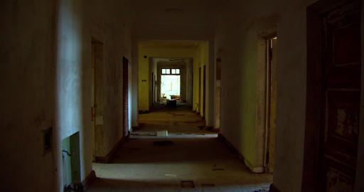 Silhouette of a woman in the hallway of a mysterious house Live Action