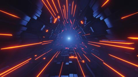 Endless Dark Lighted Red Trail 4k uhd 3d rendering vj loop Animation