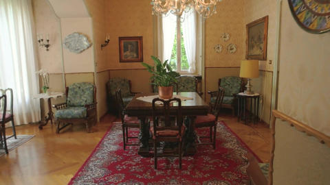 Interior of an antique house classic wooden furniture Live Action