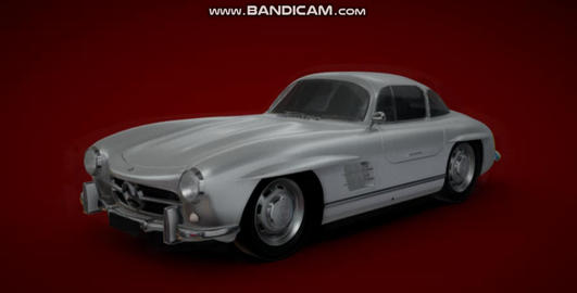 Mercedes benz 300 sl gullwing 3D Model