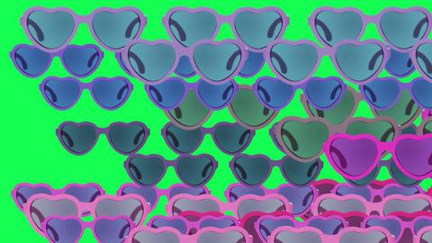 Animation Design Art. Fashion Sunglasses on green screen Animation