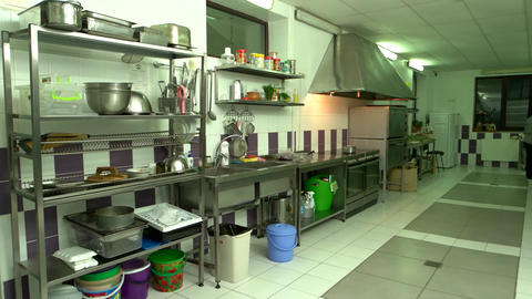 Interior of commercial kitchen Live Action