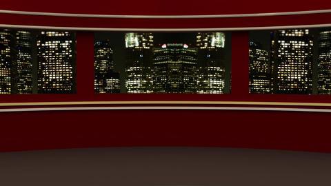 News TV Studio Set 236- Virtual Background Loop Live Action