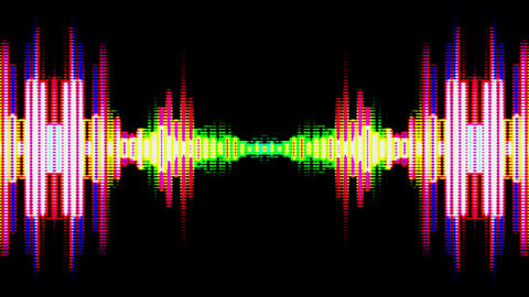 Equalizer Audio Spectrum Color Dinamic Waves Background Animation