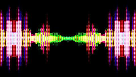 Equalizer Audio Spectrum Color Dinamic Waves Background 애니메이션