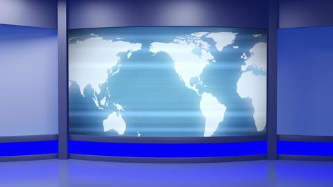 News TV Studio Set 242- Virtual Background Loop Footage