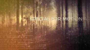 Blur parallax papers slideshow After Effects Project