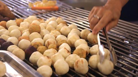 Grilled Sweet Potato (Thai Dessert) Footage
