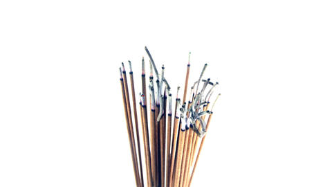 Incense sticks burning Footage