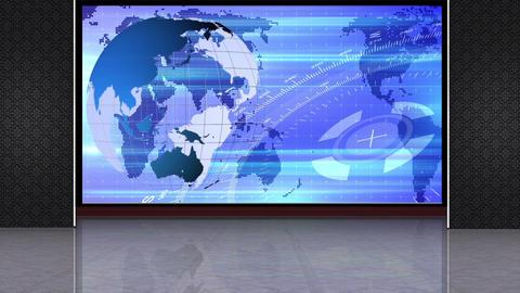 News TV Studio Set 244- Virtual Background Loop Live Action