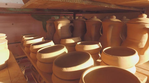 Ceramics before firing Footage
