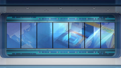 News TV Studio Set 248- Virtual Background Loop Footage