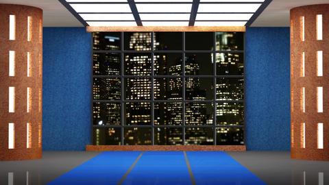 News TV Studio Set 227- Virtual Background Loop Live Action
