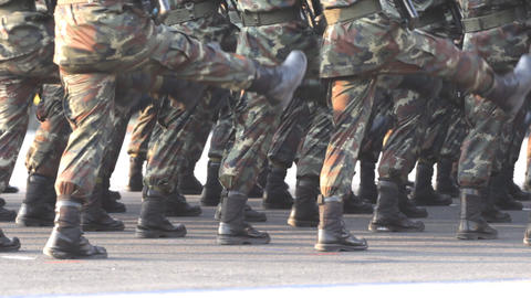 Soldiers during parade Footage