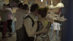 People dancing in a cafe Footage