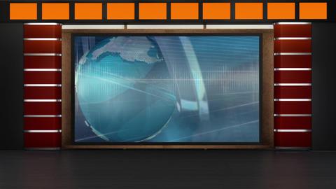 News TV Studio Set 229- Virtual Background Loop Footage