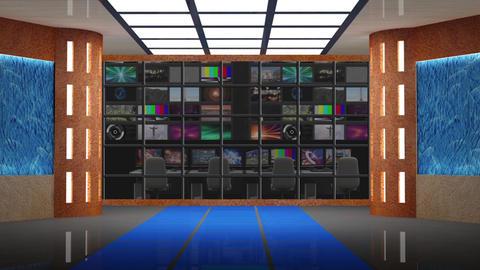 News TV Studio Set 232- Virtual Background Loop Live Action