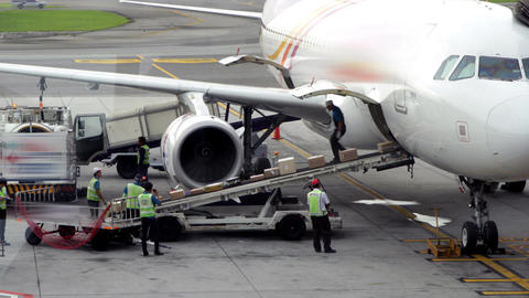 Cargo Loading To Plane Footage