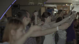 People dancing dance in the hall . Slow motion Footage