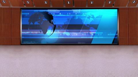 News TV Studio Set 231- Virtual Background Loop Footage