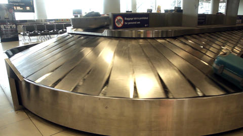 Baggage carousel in airport Footage