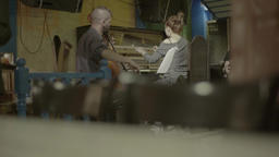 The musicians play in a cafe in the evening Footage