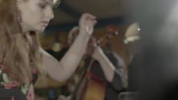 Female hand of the musician while playing the piano Footage