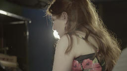 Close-up of a girl musician who plays the piano Footage