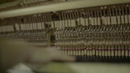 The piano on which I play music (close-up) Footage