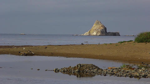 Coast with rock Stock Video Footage