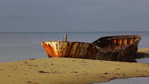 Rustboatatsunset ภาพวิดีโอ