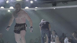 Fight in the cage (octagon) . MMA Footage