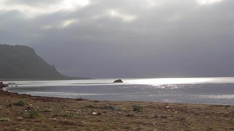 Sunset coast and ocean Footage