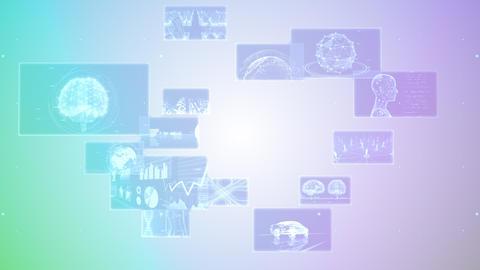Digital Network Technology AI 5G data communication concepts background F Rotate2 B Gray2 Animation