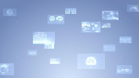Digital Network Technology AI 5G data communication concepts background F Side B Gray Animation