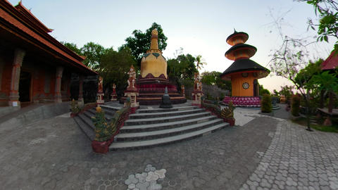 Buddhist temple on the island of Bali Live Action