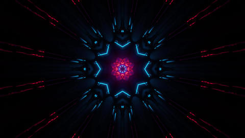 Cool Futuristic Star Looping Tunnel 4k uhd 3d rendering vj Animation