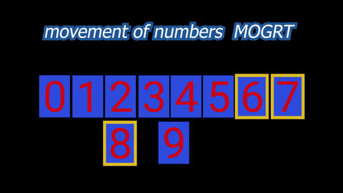 TITLE Number 0-9 MOGRT Motion Graphics Template