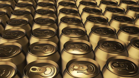 Metal cans for drinks Animation