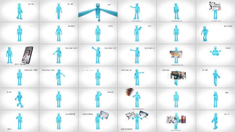 3D Character Animation Toolkit After Effects Template