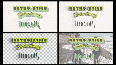 Typography Retro Stile After Effects Template