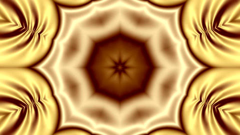 Animation Of Abstract Background In Gold Color With Kaleidoscopic Ornament 1