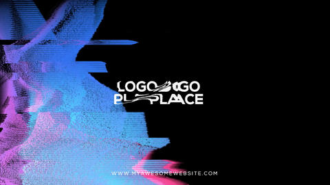 Glitch Logo Distortion Intro After Effects Template