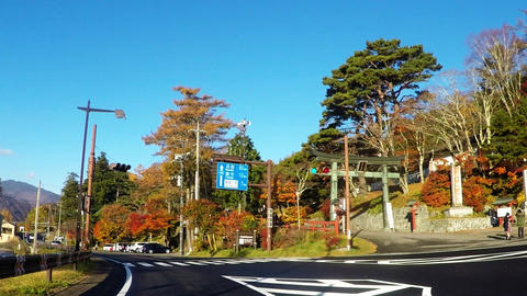 Traveling picture in the vicinity of Lake Chuzenji Lake in the sightseeing area  Footage