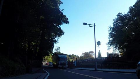World heritage, road near Nikko Toshogu Shrine Footage